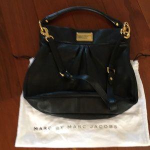 Marc by Marc Jacobs black leather shoulder handbag